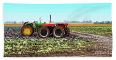 Beach Towel featuring the photograph Harvesting Time In Wisconsin  by Ricky L Jones