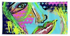 Beach Towel featuring the digital art Hasta La Vista  by Sladjana Lazarevic