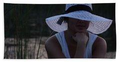 Hat At Sunset Beach Sheet