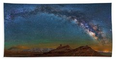 Hat Rock Milky Way Beach Towel