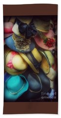 Beach Towel featuring the photograph Hats - A Cornucopia Of Color by Miriam Danar