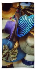 Beach Towel featuring the photograph Hats Of Yesteryear by Miriam Danar