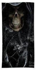 Beach Towel featuring the photograph Haunted Forest by Al Bourassa