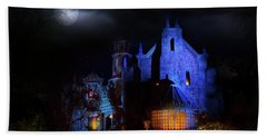 Haunted Mansion At Walt Disney World Beach Towel by Mark Andrew Thomas