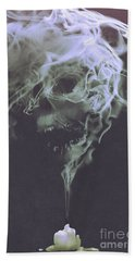 Haunted Smoke  Beach Towel