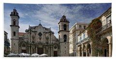 Havana Cathedral. Cuba Beach Sheet
