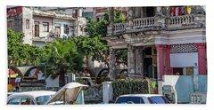 Havana Cuba Beach Towel by Charles Harden