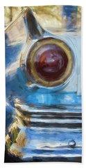 Beach Sheet featuring the photograph Havana Cuba Vintage Car Tail Light Painterly by Joan Carroll