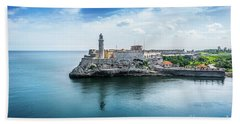 Havana Harbor  Beach Towel