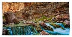 Havasu Creek Cascade Beach Towel