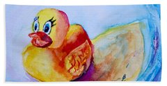 Beach Towel featuring the painting Have A Quacking Good Time by Beverley Harper Tinsley