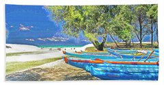 Hawaii Boats Beach Towel