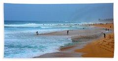Hawaii - Sunset Beach Beach Towel by Michael Rucker