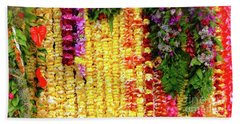Beach Towel featuring the photograph Hawaiian Flower Lei's by D Davila