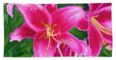 Hawaiian Flowers Beach Towel