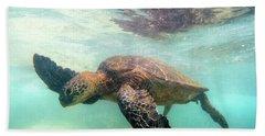Hawaiian Green Sea Turtle Beach Towel