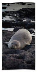 Hawaiian Monk Seal Beach Towel