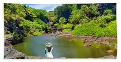 Beach Towel featuring the photograph Hawaiian Sacred Pools by Michael Rucker
