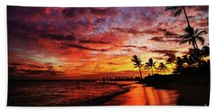 Hawaiian Sunset Beach Towel