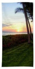 Beach Towel featuring the photograph Hawaiian Tropical Sunset by Glenn McCarthy