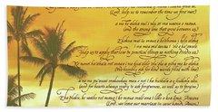 Hawaiian Wedding Blessing-sunset Beach Sheet