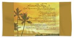 Hawaiian Wedding Blessing-sunset Beach Towel