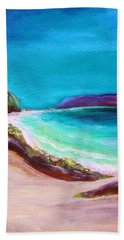 Beach Sheet featuring the painting Hawaiin Blue by Patricia Piffath