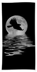 Hawk In The Moonlight Beach Towel