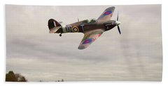Beach Towel featuring the photograph Hawker Hurricane -2 by Paul Gulliver