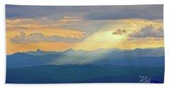 Hawks Bill Mountain Sunset Beach Towel