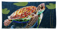 Hawksbill Sea Turtle Beach Towel