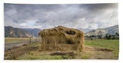 Hay Hut In Andes Beach Towel