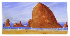 Hay Stack Rock Beach Towel