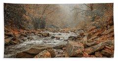 Hazy Mountain Stream #2 Beach Towel by Tom Claud