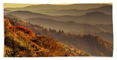 Hazy Sunny Layers In The Smoky Mountains Beach Towel by Teri Virbickis