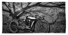 Beach Towel featuring the photograph Hd Cafe Racer  by Louis Ferreira