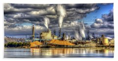 Hdr - Westrock Plant Tacoma, Wa Beach Towel
