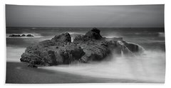 He Enters The Sea Beach Towel by Laurie Search