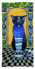 He Is Back - Blue Cat Art Beach Sheet