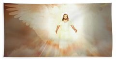 Beach Towel featuring the painting  He Is Risen by Valerie Anne Kelly