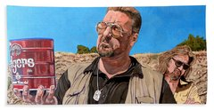 He Was One Of Us Beach Towel by Tom Roderick