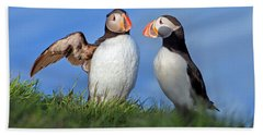 He Went That Way Beach Towel by Betsy Knapp