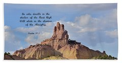 Beach Towel featuring the photograph He Who Dwells by Debby Pueschel