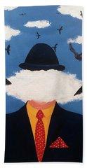 Head In The Cloud Beach Towel by Thomas Blood