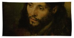 Head Of Christ Beach Towel