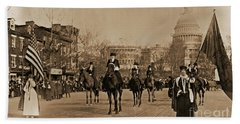 Head Of Washington D.c. Suffrage Parade Beach Towel by Padre Art