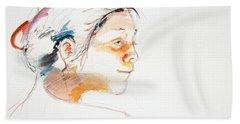 Head Study 9 Beach Towel