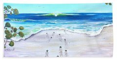 Beach Towel featuring the painting Headed Home by Dawn Harrell
