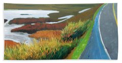 Beach Towel featuring the painting Heading North by Gary Coleman