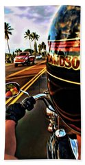 Heading Out On Harley Beach Towel
